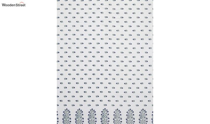 White Cotton Screen Print Double Bed AC Dohar-3