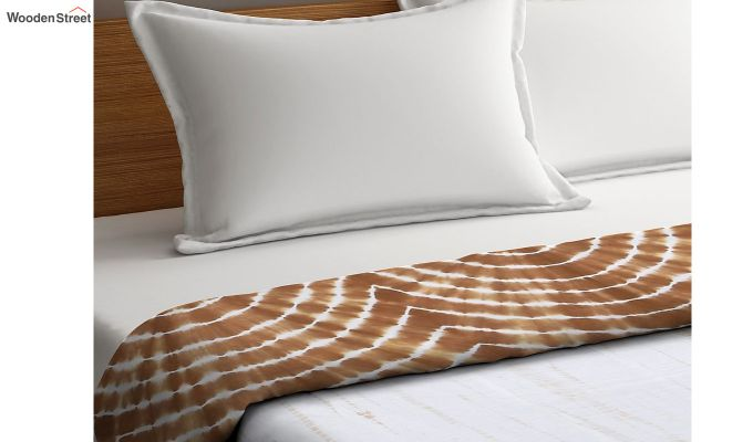 White Cotton Tie and Dye Print Double Bed AC Dohar-3