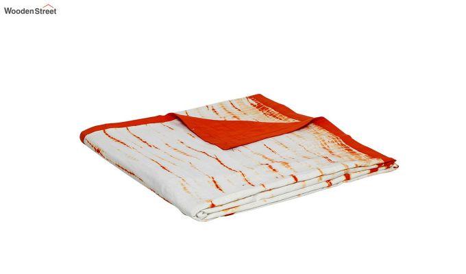White Cotton Tie and Dye Print Single Bed AC Dohar-5