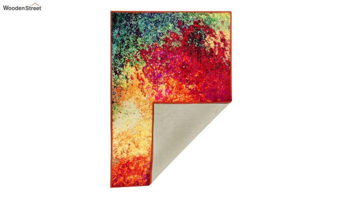 Abstract Multicolour Vintage Nylon Carpet - 7 x 5 Feet-3