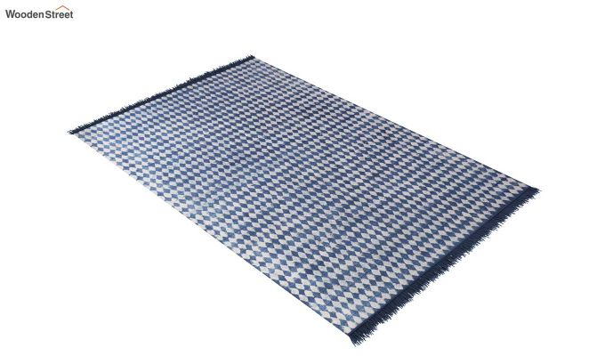 Beaded Blues Hand Woven Cotton Rug (Beaded Blues)-2
