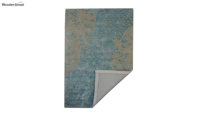 Blue Abstract Design Hand Tufted Wool and Viscose Carpet - 6 x 4 Feet-3