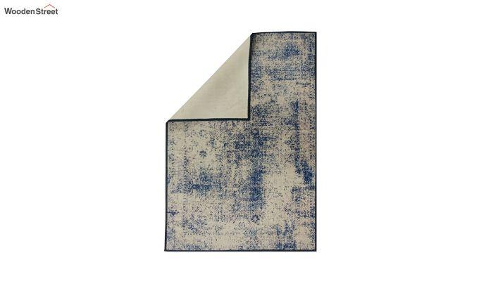 Blue Abstract Pattern Nylon Carpet - 5 x 3 Feet-3