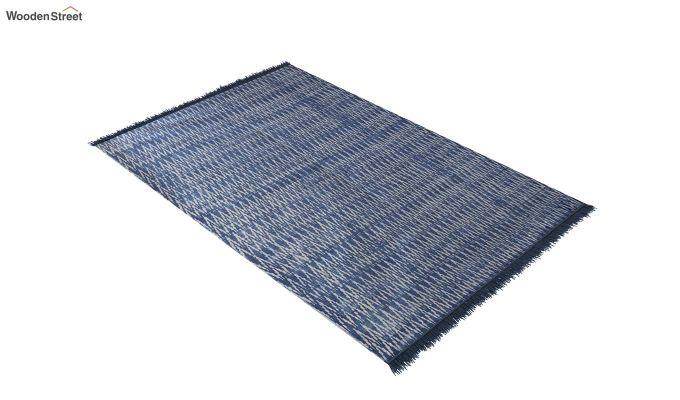 Blue Mess Hand Woven Cotton Rug (Blue Mess)-2
