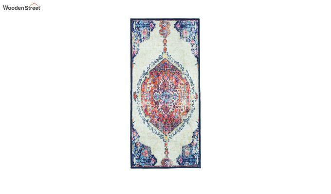 Blue Oriental Vintage Polyester Runner-4