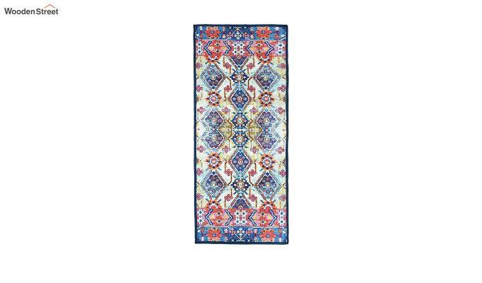 Blue Pattern Vintage Polyester Runner-4
