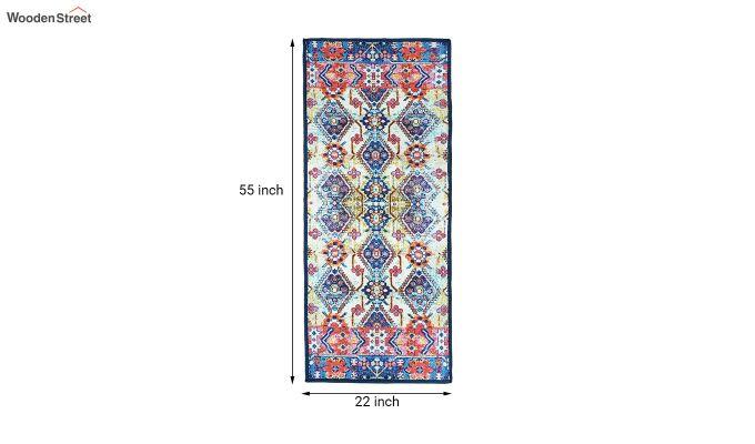 Blue Pattern Vintage Polyester Runner-7