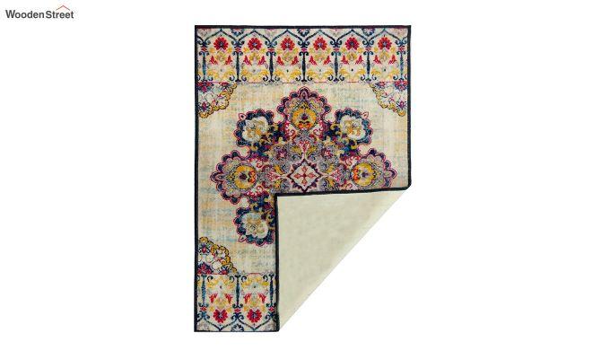 Vintage Blue Nylon Carpet - 5 x 3 Feet-3