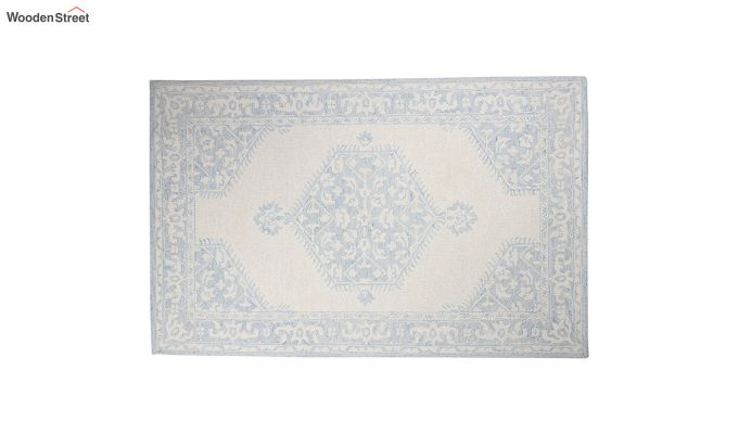 Blue Traditional Hand Tufted Carpet - 8 x 5 Feet-2
