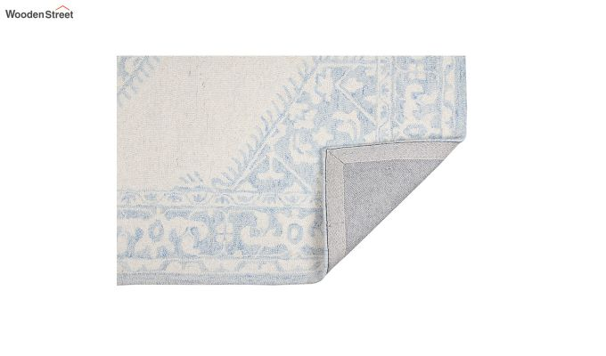 Blue Traditional Hand Tufted Carpet - 8 x 5 Feet-3