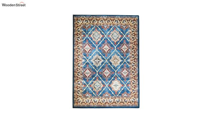 Contract Polyester Yarn 3D Printed Vintage Persian Multicolour Carpet-3