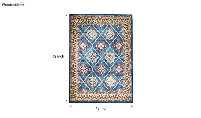 Contract Polyester Yarn 3D Printed Vintage Persian Multicolour Carpet-6