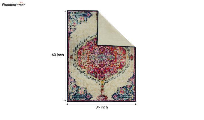 Blue Washed Vintage Nylon Carpet - 5 x 3 Feet-6