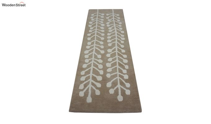 Brown Hand Tufted Cut Pile Wool Carpet - 8 x 2.6 Feet-3