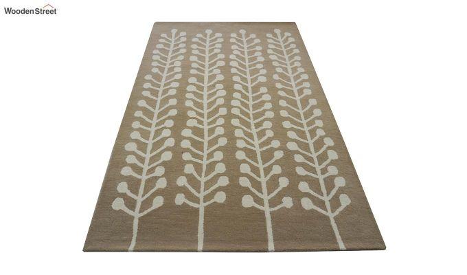 Brown Hand Tufted Cut Pile Wool Carpet - 9.9 x 6.6 Feet-2