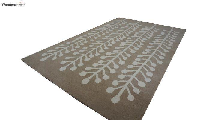 Brown Hand Tufted Cut Pile Wool Carpet - 9.9 x 6.6 Feet-4