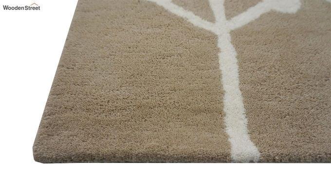 Brown Hand Tufted Cut Pile Wool Carpet - 9.9 x 6.6 Feet-5