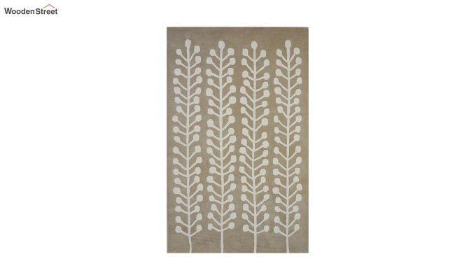 Brown Hand Tufted Cut Pile Wool Carpet - 9.9 x 6.6 Feet-7
