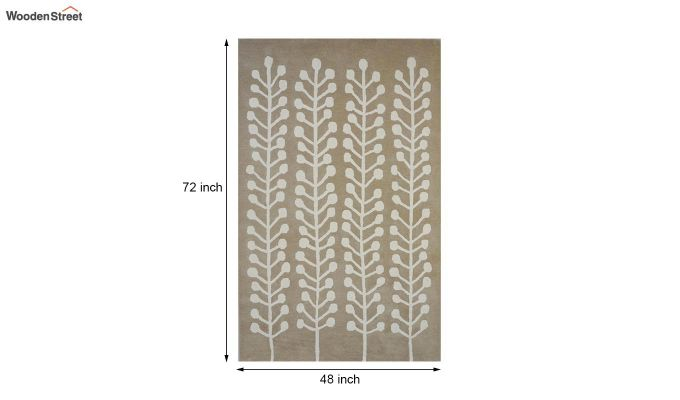 Brown Hand Tufted Cut Pile Wool Floor Mat - 6 x 4 Feet-8