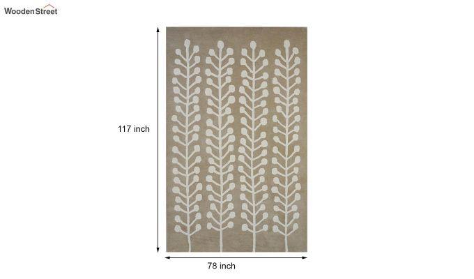 Brown Hand Tufted Cut Pile Wool Carpet - 9.9 x 6.6 Feet-8