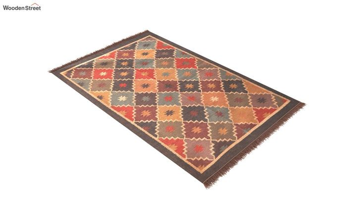 Colour Blitz Hand Woven Cotton Rug (Colour Blitz)-2