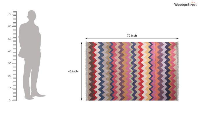 Colour Rush Hand Woven Cotton Rug (Colour Rush)-5