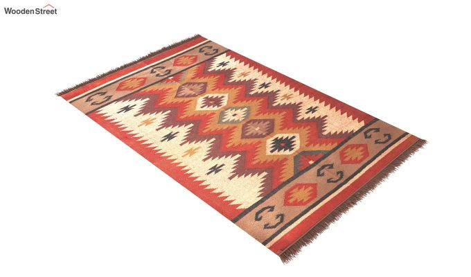 Flame Forest Hand Woven Cotton Rug (Flame Forest)-2