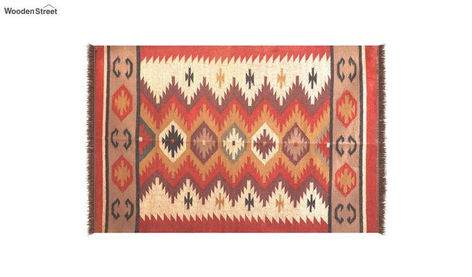 Flame Forest Hand Woven Cotton Rug (Flame Forest)-3