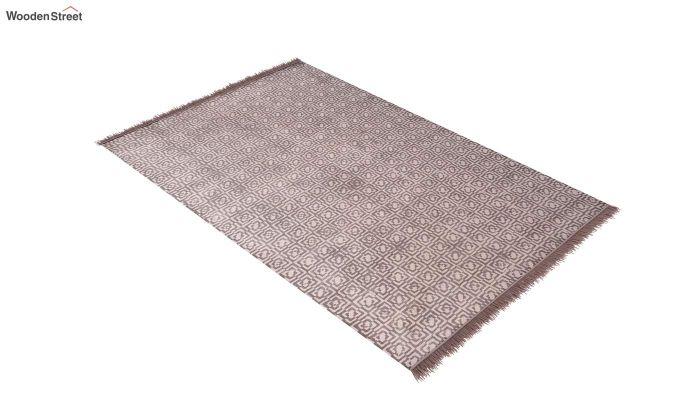 Flawed Biege Hand Woven Cotton Rug (Flawed Biege)-2