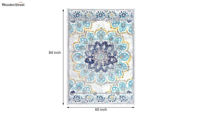 Floral Print Vintage Nylon Carpet - 7 x 5 Feet-7