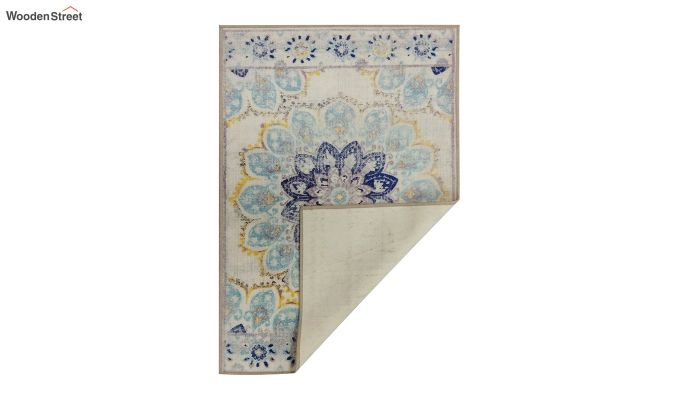 Floral Print Vintage Nylon Rug - 6 x 4 Feet-6