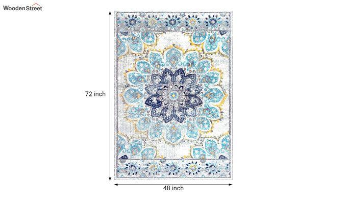 Floral Print Vintage Nylon Rug - 6 x 4 Feet-7