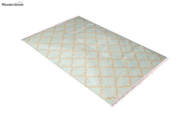 Golden Blitz Hand Woven Cotton Rug (Golden Blitz)-2