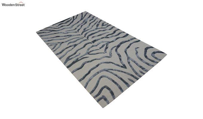 Grey Chevron Design Wool & Viscose Hand Tufted Carpet - 8 x 5 Feet-7