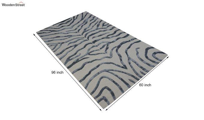 Grey Chevron Design Wool & Viscose Hand Tufted Carpet - 8 x 5 Feet-9
