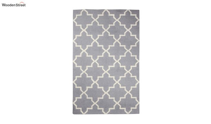 Grey Moroccan Hand Tufted Wool Carpet - 8 x 5 Feet-2