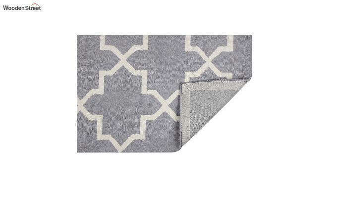 Grey Moroccan Hand Tufted Wool Carpet - 8 x 5 Feet-3