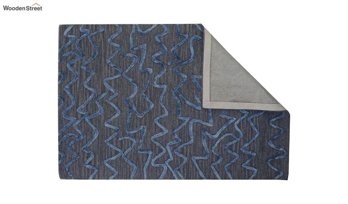 Grey Stripes Design Hand Tufted Wool and Viscose Carpet - 6 x 4 Feet-9