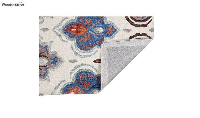 Ivory Suzani Hand Tufted Carpet - 8 x 5 Feet-3