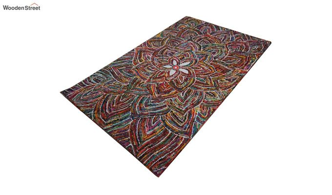 Multicolour Hand Tufted Recycled Cotton Chindi Carpet - 8 x 5 Feet-4