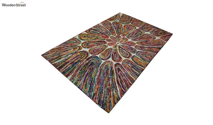Multicolour Recycled Cotton Chindi Hand Tufted Carpet - 8 x 5 Feet-4