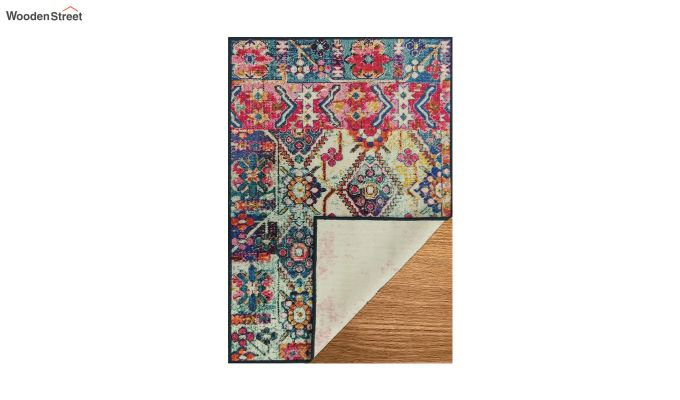 Multicolour Vintage Nylon Carpet - 7 x 5 Feet-5