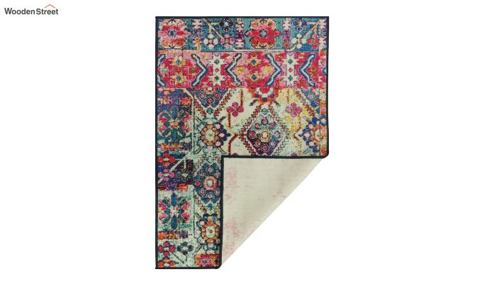 Multicolour Vintage Nylon Carpet - 7 x 5 Feet-6