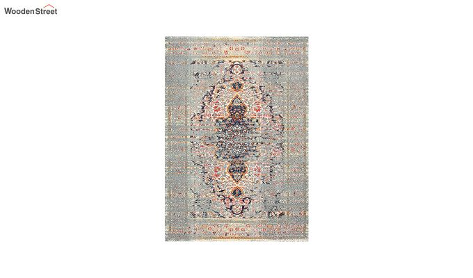 Oriental Pattern Vintage Nylon Carpet - 5 x 3 Feet-6
