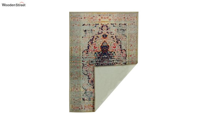 Oriental Pattern Vintage Nylon Carpet - 5 x 3 Feet-7