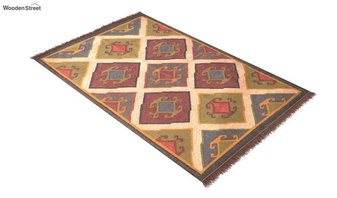 Oriental Tribe Hand Woven Cotton Rug (Oriental Tribe)-2