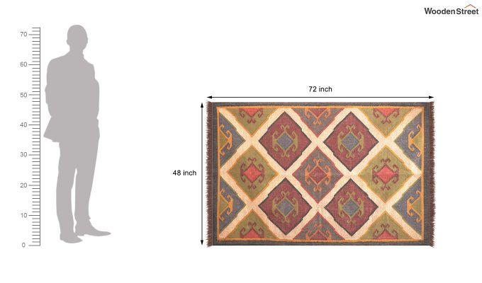 Oriental Tribe Hand Woven Cotton Rug (Oriental Tribe)-5