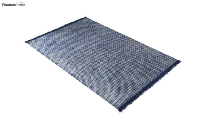 Peaking White Hand Woven Cotton Rug (Peaking White)-2