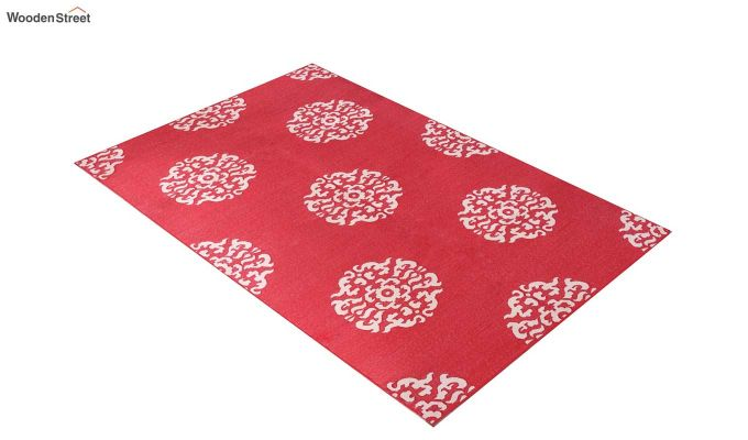 Red Mistic Hand Woven Cotton Rug (Red Mistic)-2