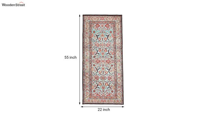 Red Vintage Polyester Bed Side Runner-7